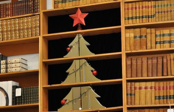 Christmas Tree of Repurposed Law Books