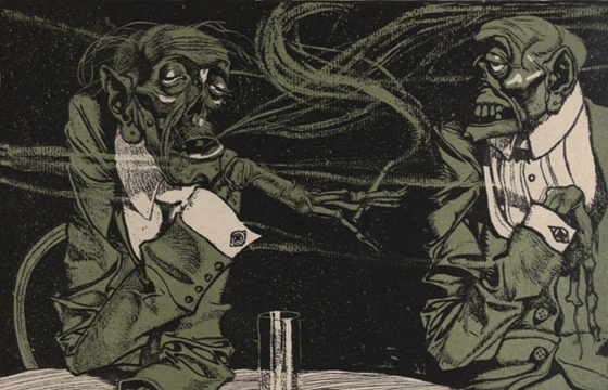 Early 1900s Humor Magazine Illustrations by Franz Wacik