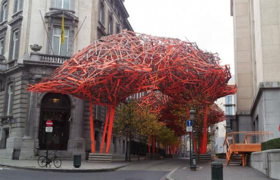 The Sequence by Arne Quinze in Brussels, Belgium
