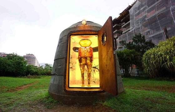 Os Gemeos Create Sculpture Inside an Old Military Bunker