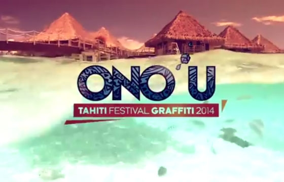 ONO'U international graffiti contest in Tahiti