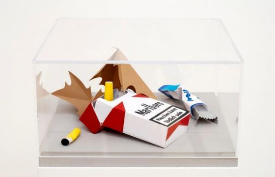 Detailed Paper Replicas of Trash by Carly Fischer