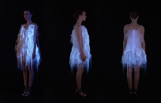 Ying Gao's Photoluminescent Eye Tracking Dresses