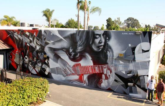 El Mac x Kofie for KROQ's Sound Space Mural