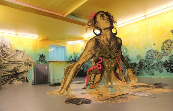 "Swoon ""Motherlands"" @ Galerie LJ, Paris"