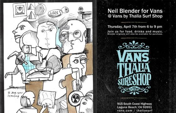 Neil Blender for Vans at Vans by Thalia Surf Shop