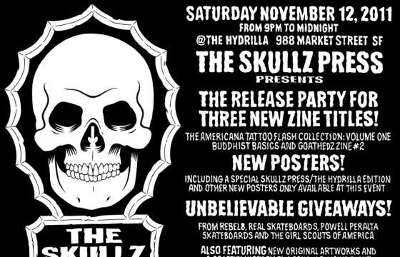 THE SKULLZ PRESS Zine Release Party in San Francisco