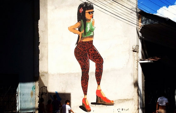 Stylish woman mural by Resto