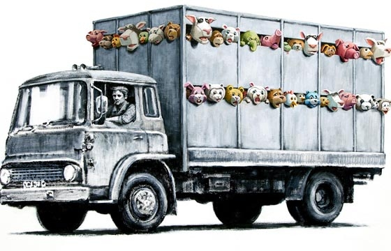 Banksy Meat Truck Illustration