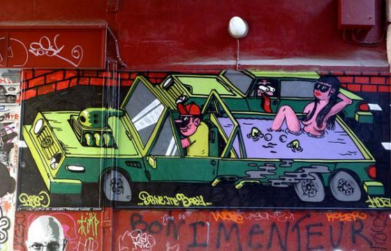 In Graffiti: Paris-based Resto goes Car Culture