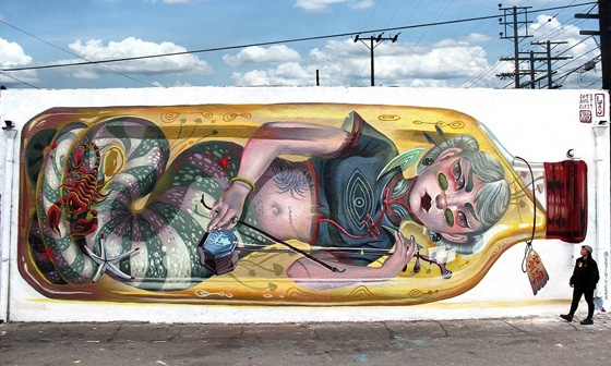 Juxtapoz Magazine - RECAP: Celebrating National Mural Day with PBR and Cey Adams