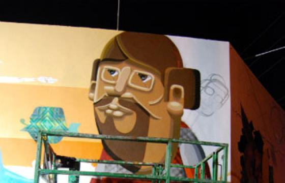 Os Gemeos at Work in Wynwood