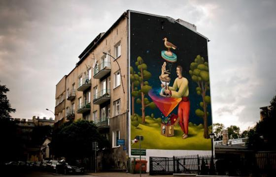 New Interesni Kazki mural in Lublin, Poland