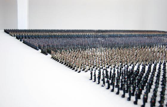 Tin Soldiers by Ala Younis at Istanbul Art Biennale 2011