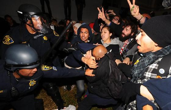 JUXTAPOZITION - PSU RIOTS VS OCCUPY CAL PART 2: GOLDMAN BEARS