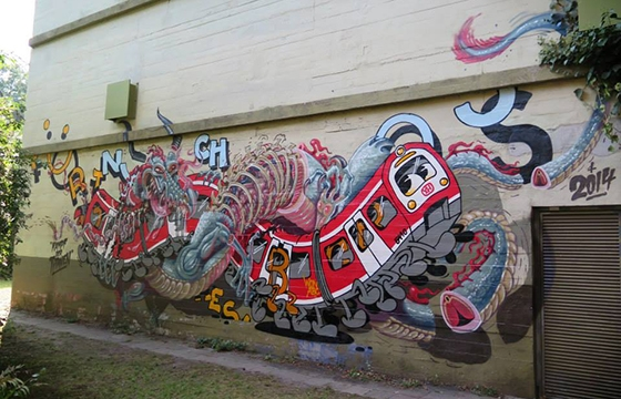 Nychos x Flying Fortressin in Hamburg, Germany