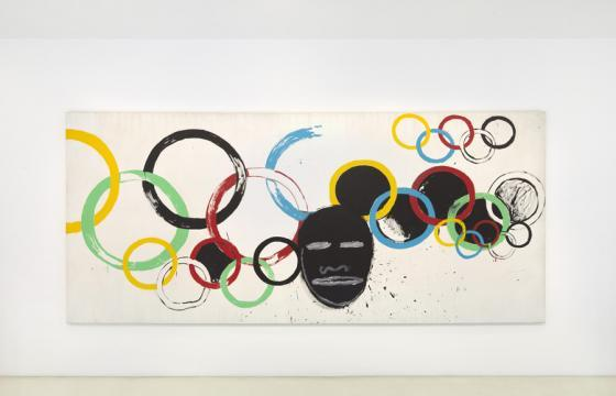 "JEAN-MICHEL BASQUIAT AND ANDY WARHOL ""Olympic Rings"" @ Gagosian, London"