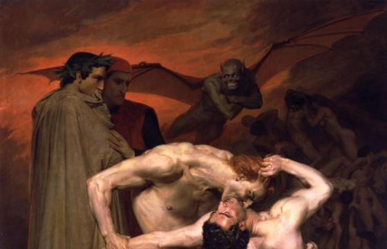 William-Adolphe Bouguereau: Dante And Virgil In Hell