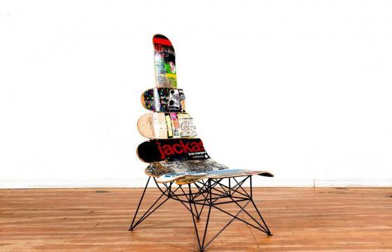 Contemporary Tables with Skate Decks by Janie Belcourt