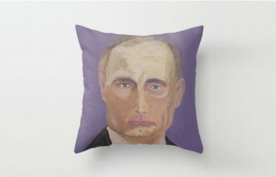 Bush and Putin Pillows and Clocks