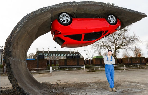 Newest Illusionary Installation by Alex Chinneck