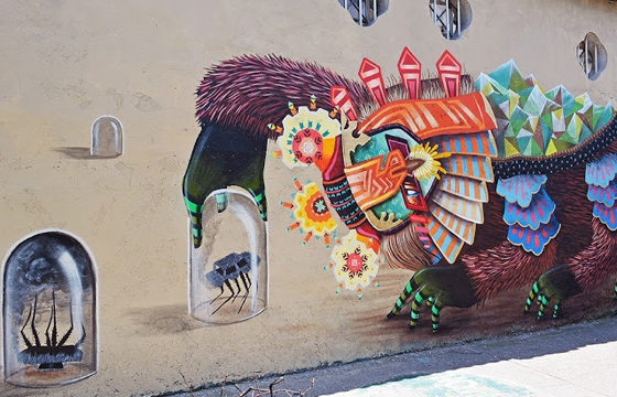 New Curiot mural in Mexico City