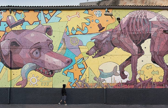 Aryz x Vicio in Fraga, Spain