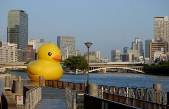 The Giant Rubber Duckie by Florentijn Hofman