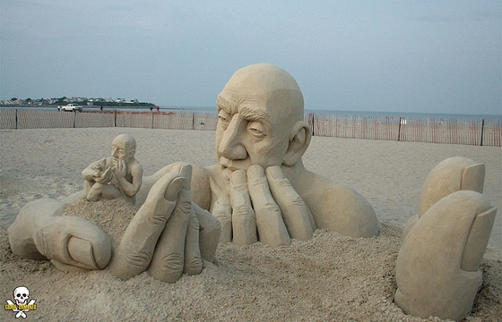 Sand Sculptures by Carl Jara (Video)