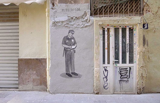 """The Writer"" by Escif"