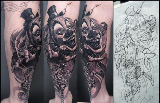 Oleg Turyanskiy's Clown Tattoo