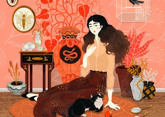 Lisa Perrin's Eastern European-Influenced Illustrations
