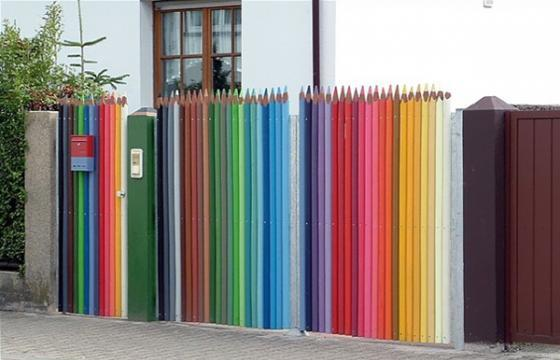 The Color Pencil Fence
