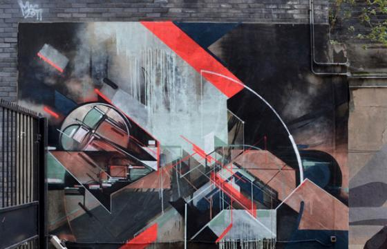 Kofie x Nawer collaborative mural in London