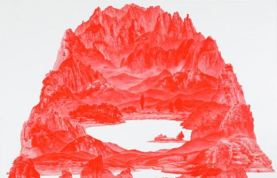 """Between Red,"" Paintings by Sea Huyn Lee"