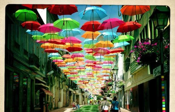 Umbrella Installation in Águeda, Portugal