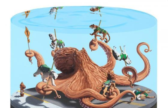 "Josh Keyes ""The Circus and The Sea"" & Print Release @ Roq La Rue Gallery, Seattle"
