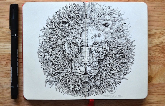 The Moleskine Drawings of Kerby Rosanes
