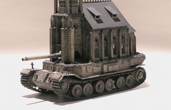 "Kris Kuksi's ""Churchtanks"""