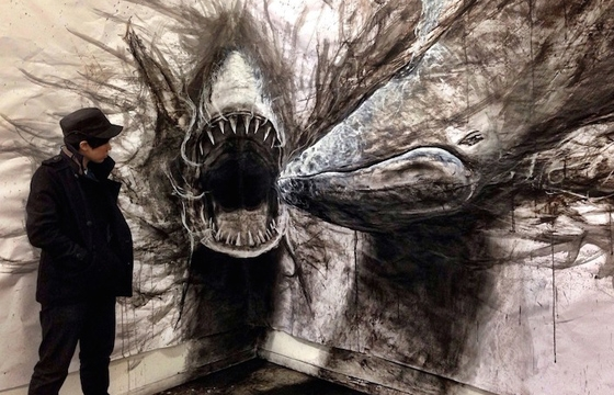 Large-Scale Drawings That Look 3D by Fiona Tang