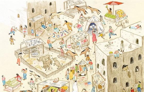 Illustrative Scenes by Vikki Chu