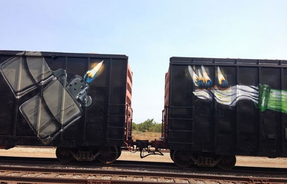 Double Whole Car Painting by Aware
