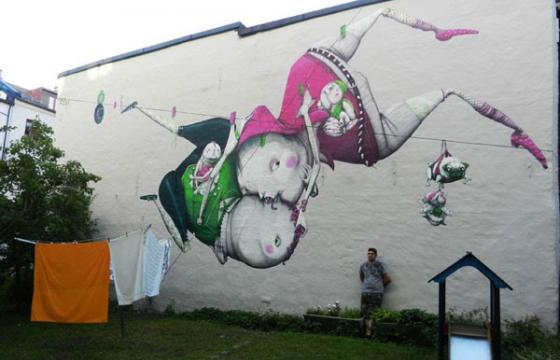 Backyard Mural by ZED1