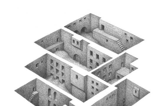 Drawings by Mathew Borrett: Room Series