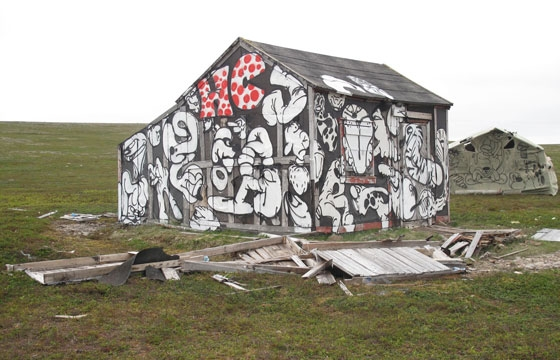 Arctic cabin painted by Horfe