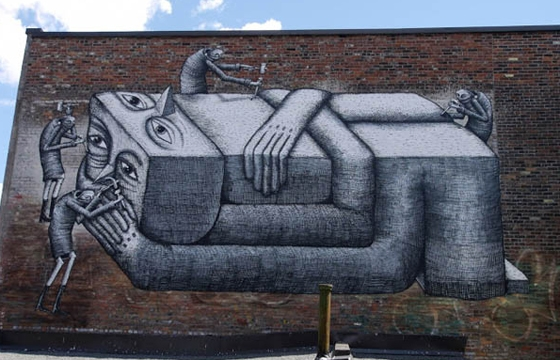 2 new walls from Phlegm in Montreal