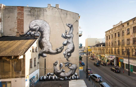 New Roa Mural in Lodz, Poland