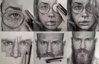 Hyperreal Process: Graphite Drawings by Monica Lee