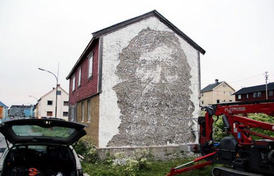 2 New Walls from Vhils in Vardø, Norway