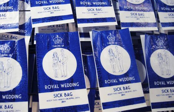 Royal Wedding Sick Bags by Lydia Leith